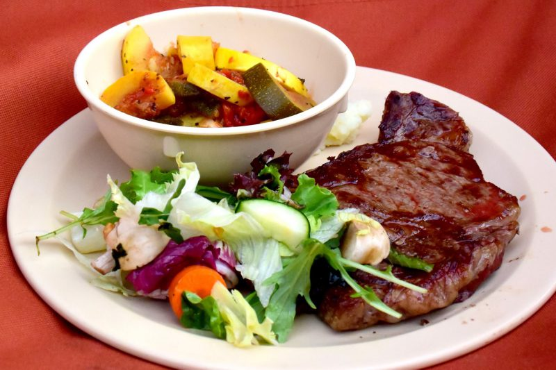 Delicious Steak and Salad